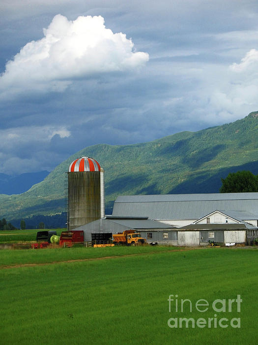 Farm In The Valley Print by Ann Horn