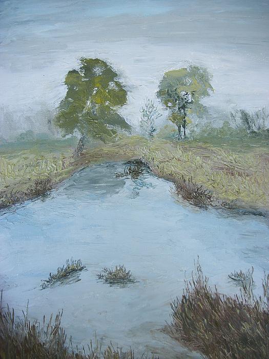 Farm Pond Print by Dwayne Gresham