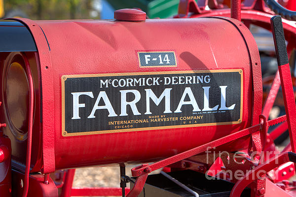 Farmall F-14 Tractor I Print by Clarence Holmes