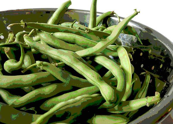Farmers Market Green Beans Print by Ann Powell