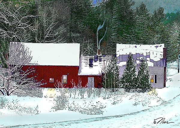 Nancy Griswold - Farmhouse in Winter