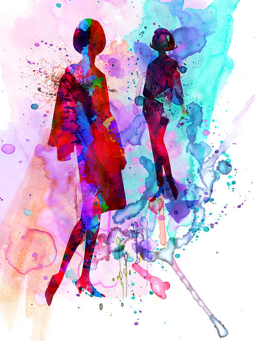 Fashion Models 8 Print by Naxart Studio
