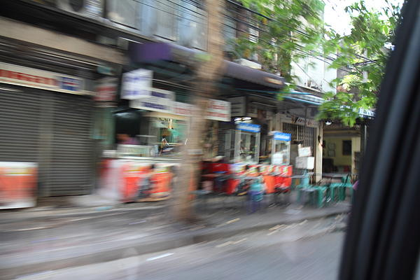 Fast Paced City Life - Bangkok Thailand - 01132 Print by DC Photographer