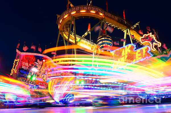 Fast Ride At The Octoberfest In Munich Print by Sabine Jacobs