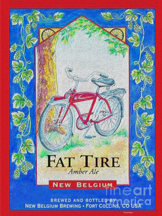 Fat Tire Print by Cheryl Young