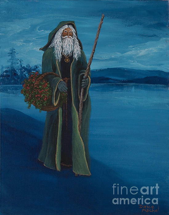Father Christmas Print by Darice Machel McGuire