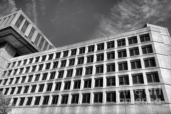 Fbi Building Side View Print by Olivier Le Queinec