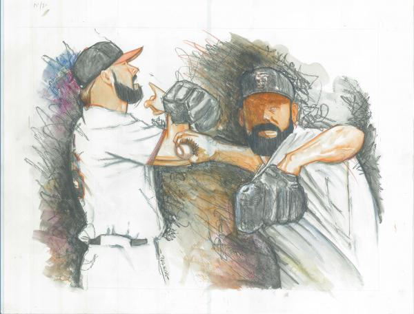 Fear The Beard World Champs Print by Phil  King