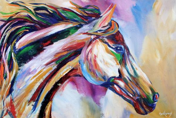 Feeling The Wind Print by Cher Devereaux