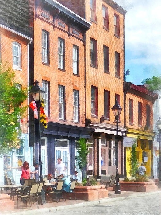 Fells Point Street Print by Susan Savad