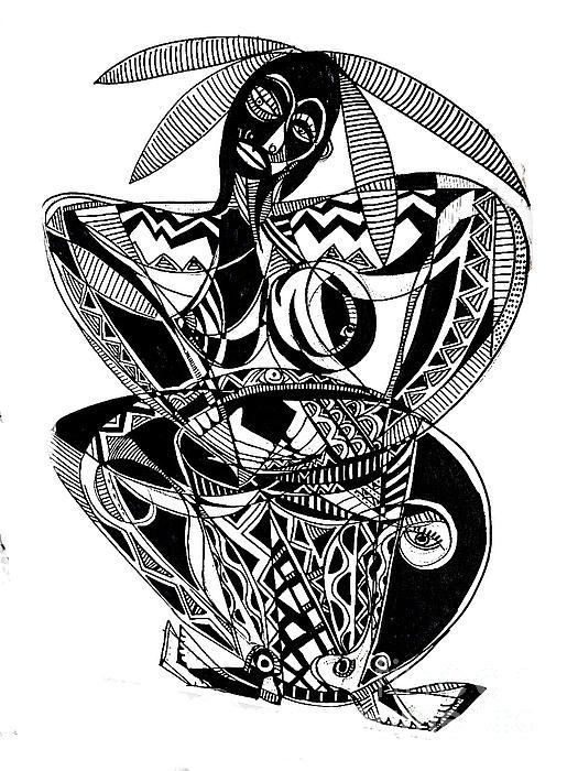 Female Drummer Print by Robert Daniels