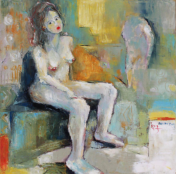 Female Nude 2 Print by Becky Kim
