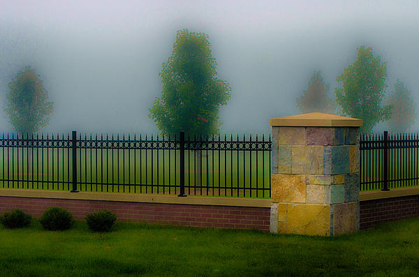 Gene Sherrill - Fence Pillar and Fog