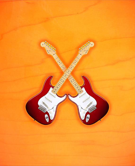 Fender Stratocaster American Standart Red   Print by Doron Mafdoos