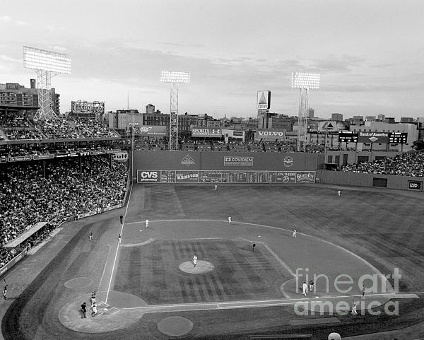 Fenway Park Photo - Black And White by Horsch Gallery