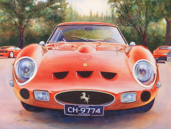 Ferrari 250 Gto Print by Robert Hooper