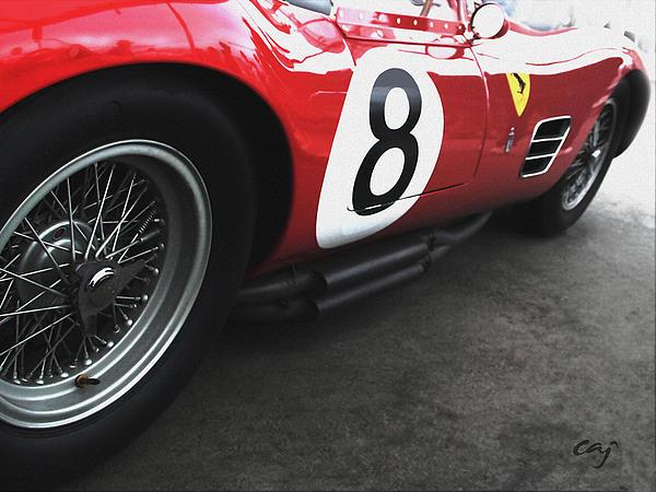 Ferrari 250 Tr 1959 Wire Wheel Print by Curt Johnson