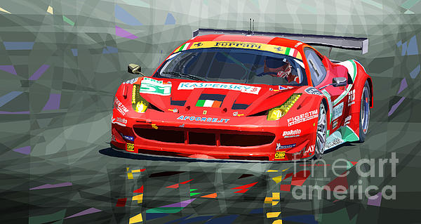 Ferrari 458 Gtc Af Corse Print by Yuriy  Shevchuk