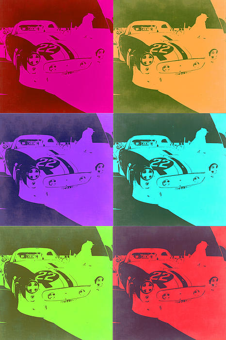 Ferrari Gto Pop Art 3 Print by Naxart Studio