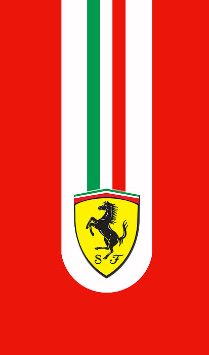 Ferrari Phone Case Print by Mark Rogan