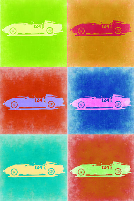 Ferrari Testarossa Pop Art 2 Print by Naxart Studio
