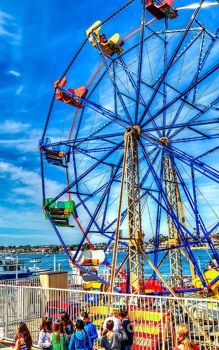 Ferris Wheel - Balboa Fun Zone Print by Jim Carrell