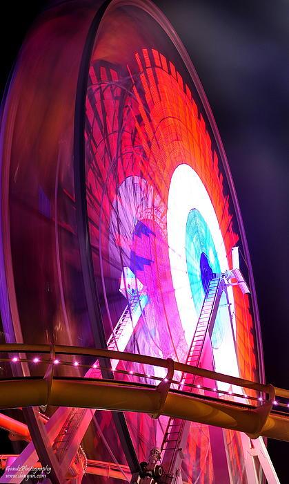 Ferris Wheel Print by Gandz Photography