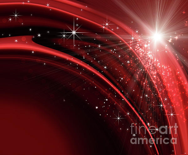 Festive Holiday Background Print by Sandra Cunningham