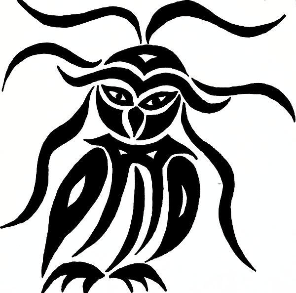Festive Owl Print by Beth Akerman