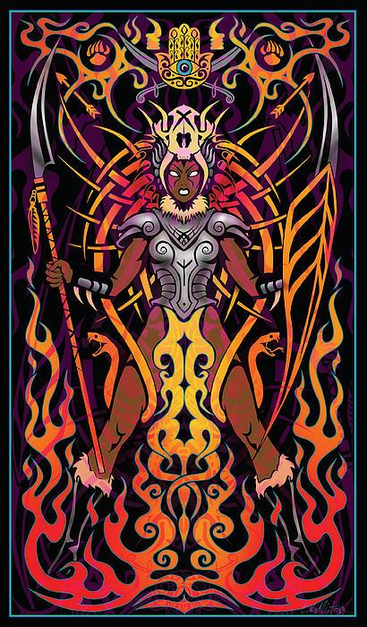 Fierce Print by Cristina McAllister