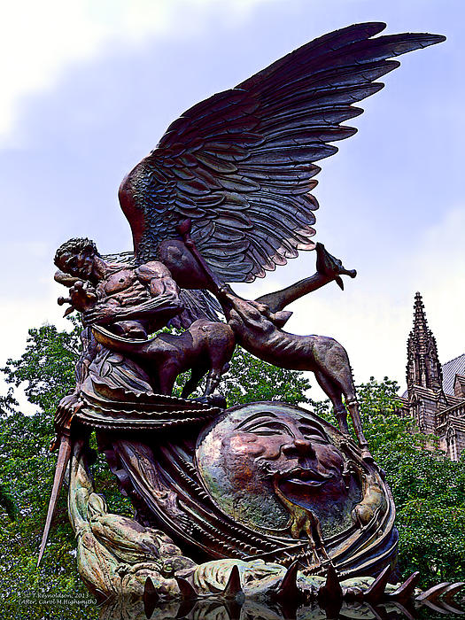 Fighting Angel Print by Terry Reynoldson