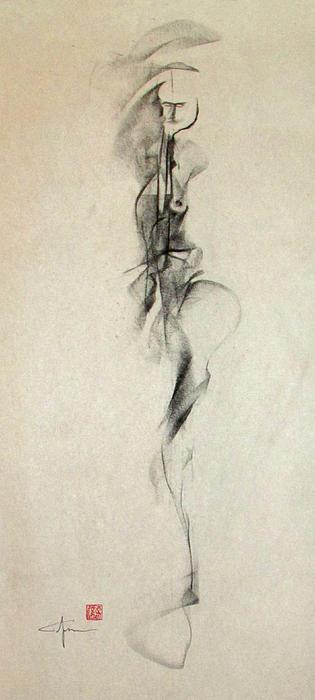 Figurative Gesture Drawing Print by John Arthur Ligda