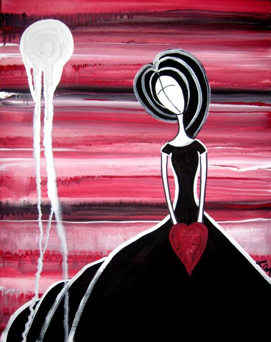 Figure Painting - I Hold Your Heart In My Hands Print by Laura  Carter