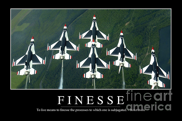 Finesse Inspirational Quote Print by Stocktrek Images