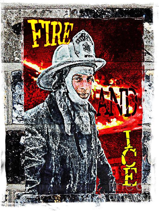 Fire And Ice Graffiti Art Print by Andrew Govan Dantzler