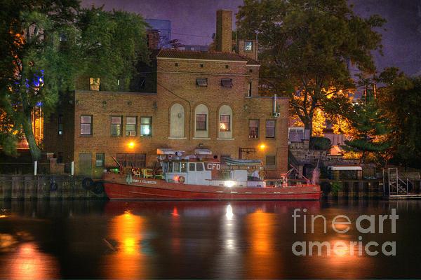 Fire Boat On Cuyahoga River Print by Juli Scalzi