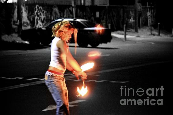 Fire Dance Print by Alanna DPhoto