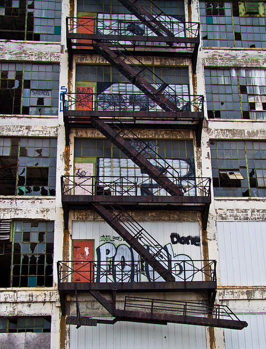 Fire Escape Print by Aileen Mozug