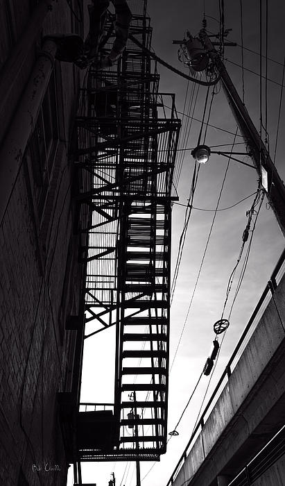 Fire Escape And Wires Print by Bob Orsillo