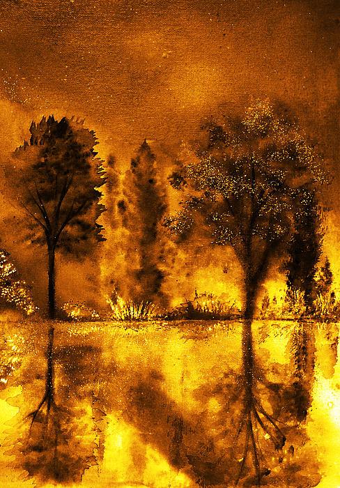 Fire Of Angels Print by Ann Marie Bone