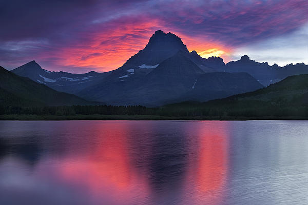Fire On The Mountain Print by Andrew Soundarajan