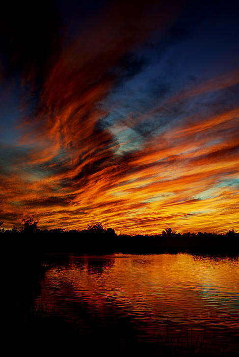 Fire Sky Print by Saija  Lehtonen