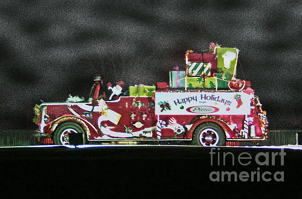 Firefighters Christmas Print by Tommy Anderson