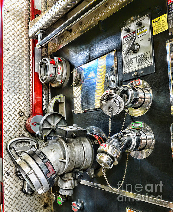 Fireman - Control Panel Print by Paul Ward