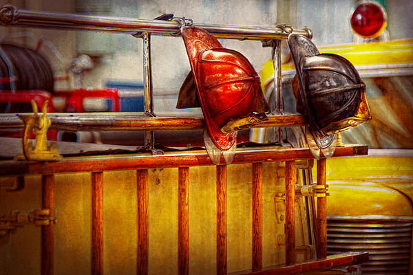 Fireman - Hat - Waiting For A Hero  Print by Mike Savad