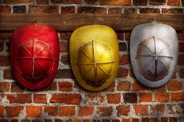 Fireman - Hats - Pick A Hat Any Hat  Print by Mike Savad