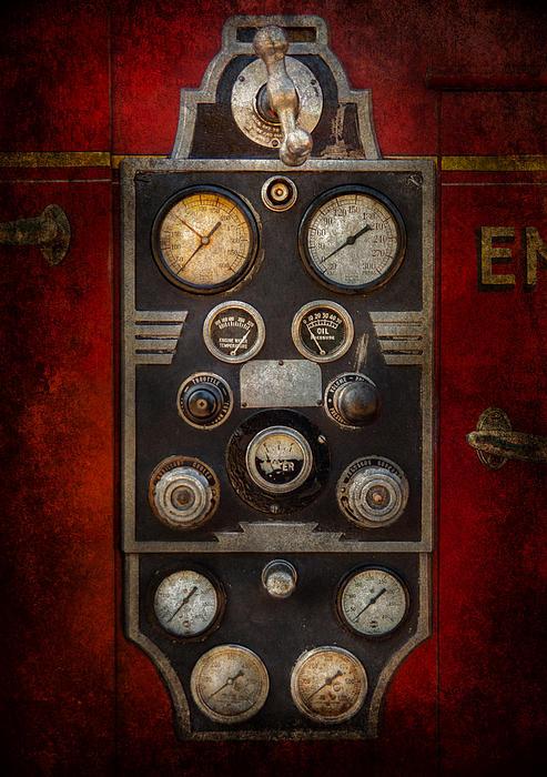 Fireman - Keep An Eye On The Pressure Print by Mike Savad