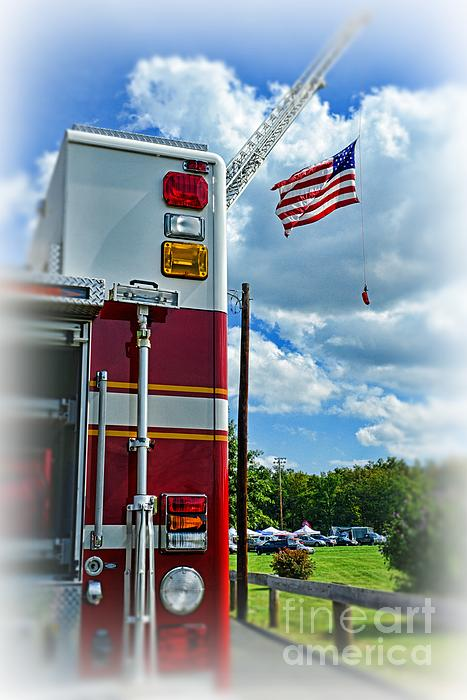 Fireman - Proudly They Serve Print by Paul Ward