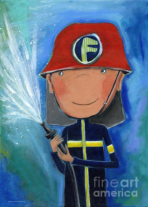 Fireman Print by Sonja Mengkowski