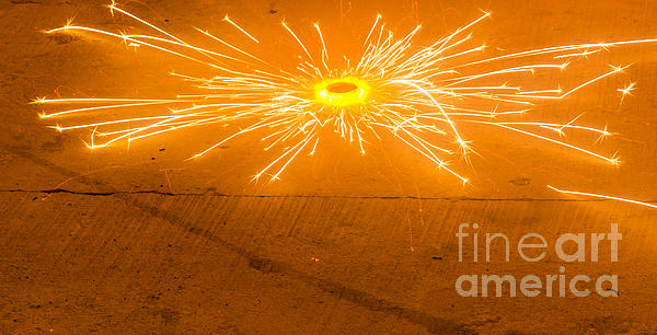 Firework Wheel Print by Image World